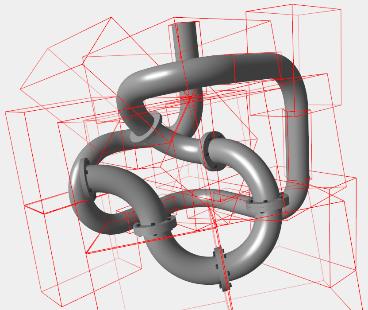 Rotácia skupiny objektov